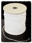 "White Flat Elastic 3mm (1/8"")"